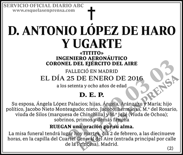 Antonio López de Haro y Ugarte